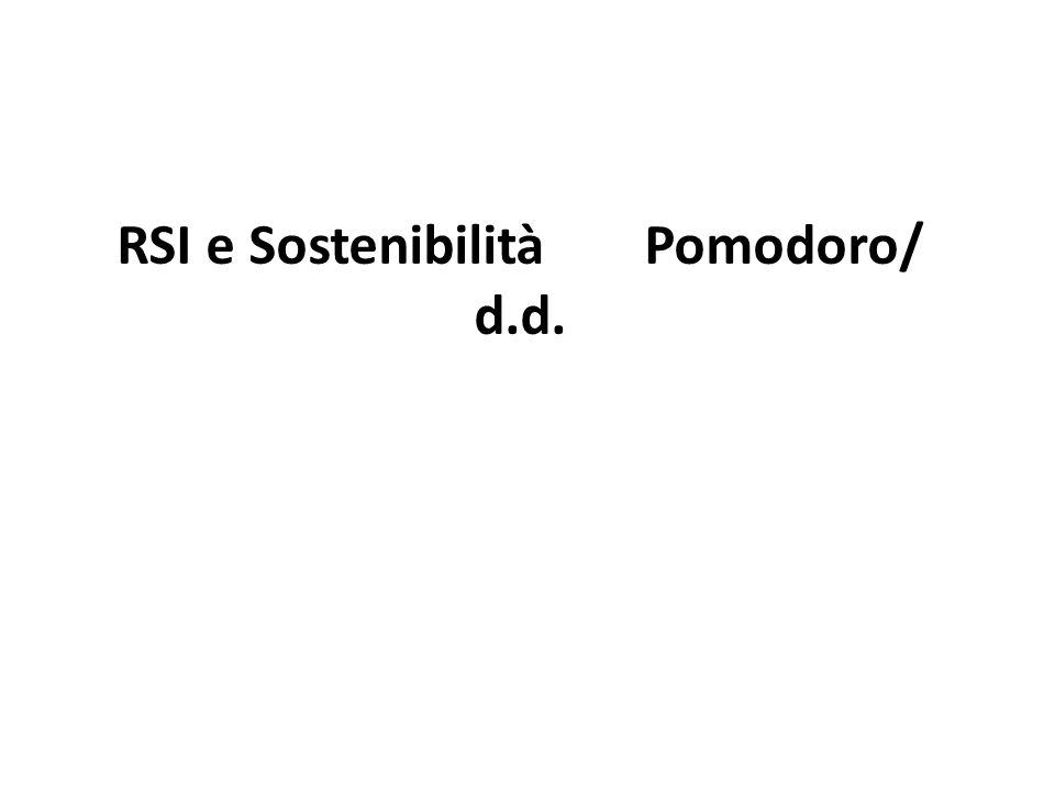 RSI e SostenibilitàPomodoro/ d.d.
