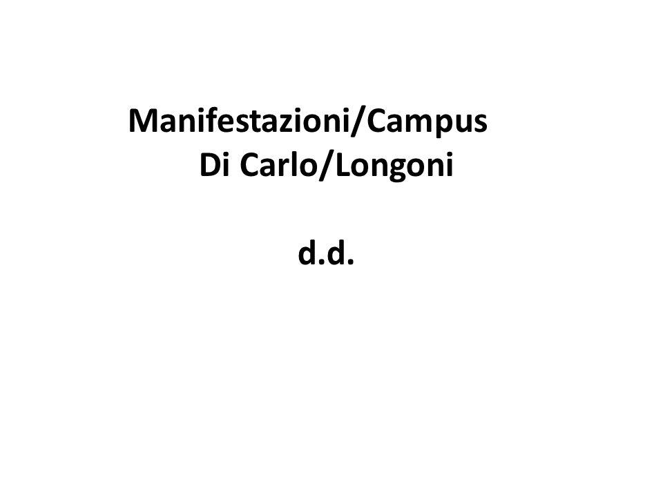 Manifestazioni/Campus Di Carlo/Longoni d.d.