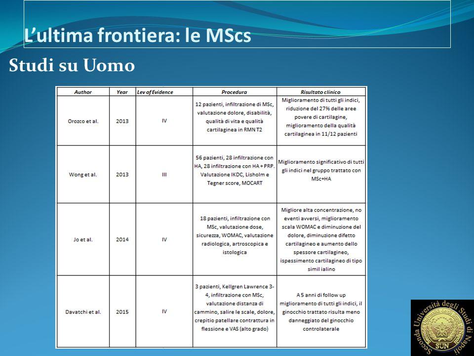 L'ultima frontiera: le MScs Studi su Uomo