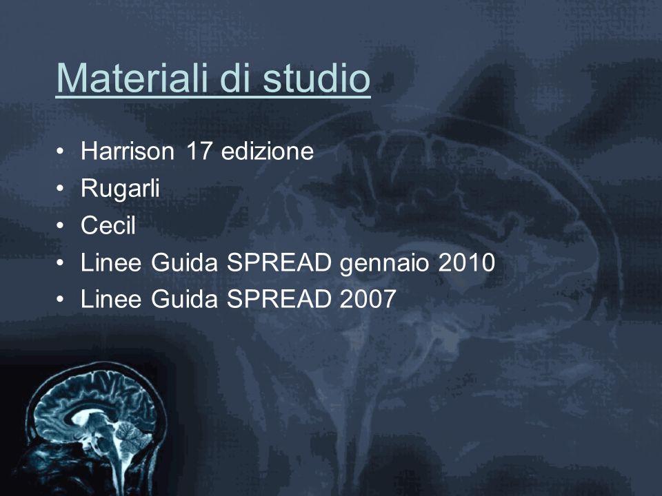 Materiali di studio Harrison 17 edizione Rugarli Cecil Linee Guida SPREAD gennaio 2010 Linee Guida SPREAD 2007