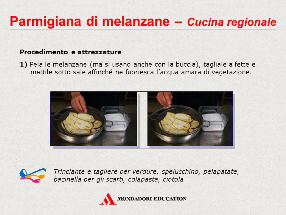 Procedimento e attrezzature 1) Pela le melanzane (ma si usano anche con la buccia), tagliale a fette e mettile sotto sale affinché ne fuoriesca l'acqu
