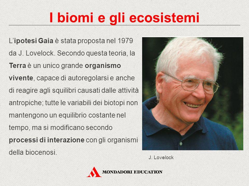 L'ipotesi Gaia è stata proposta nel 1979 da J. Lovelock. Secondo questa teoria, la Terra è un unico grande organismo vivente, capace di autoregolarsi