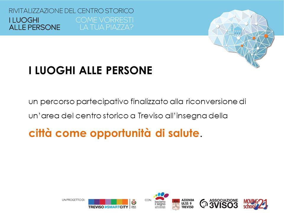 I LUOGHI ALLE PERSONE un percorso partecipativo finalizzato alla riconversione di un'area del centro storico a Treviso all'insegna della città come opportunità di salute.