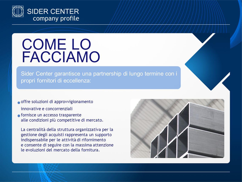company profile COME LO FACCIAMO offre soluzioni di approvvigionamento innovative e concorrenziali fornisce un accesso trasparente alle condizioni più