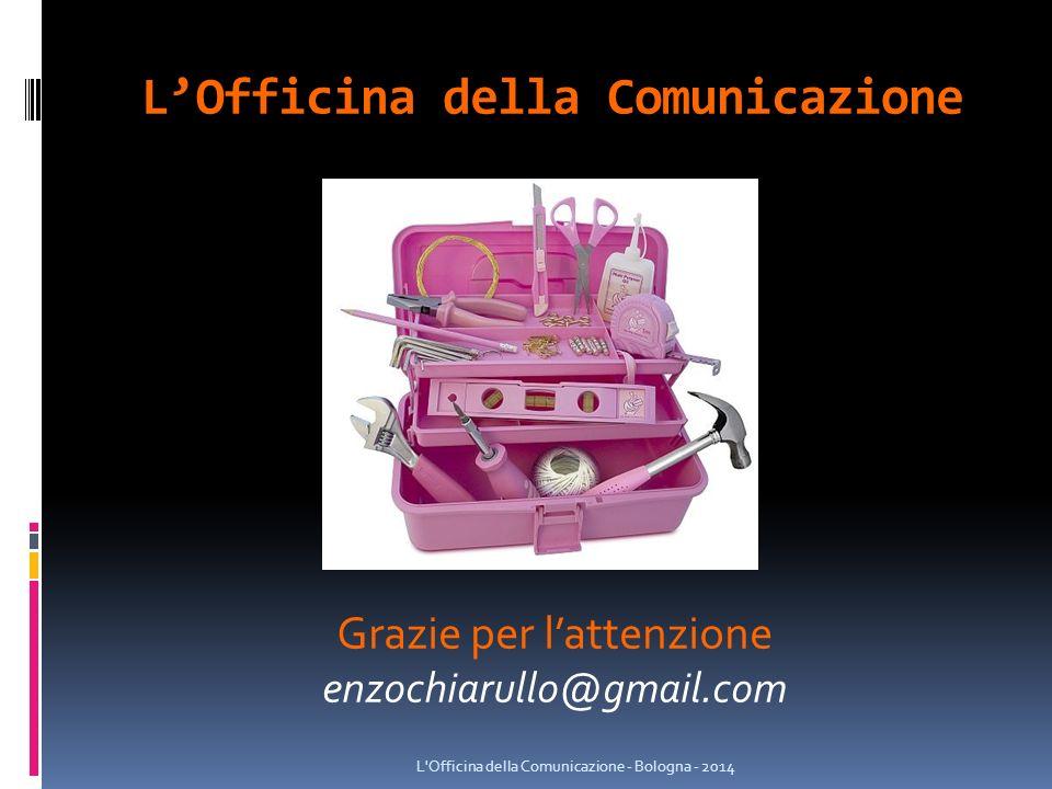 Grazie per l'attenzione enzochiarullo@gmail.com L'Officina della Comunicazione
