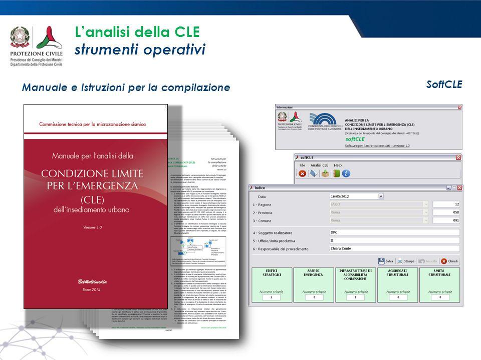 L'analisi della CLE strumenti operativi Manuale e Istruzioni per la compilazione SoftCLE
