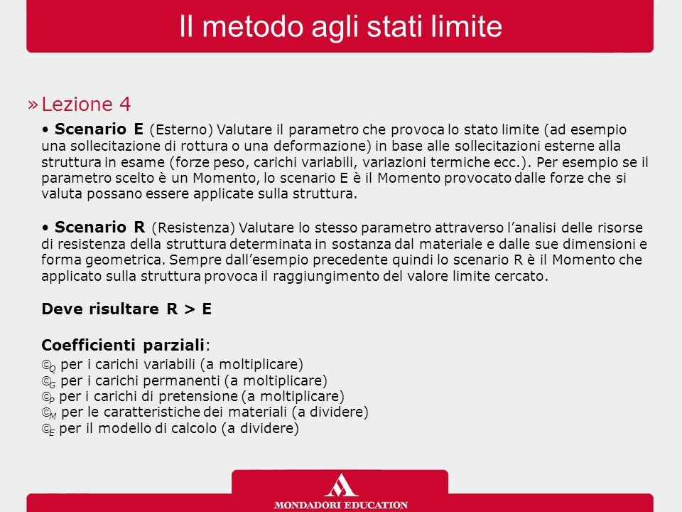 Il metodo agli stati limite »Lezione 4 Scenario E (Esterno) Valutare il parametro che provoca lo stato limite (ad esempio una sollecitazione di rottur