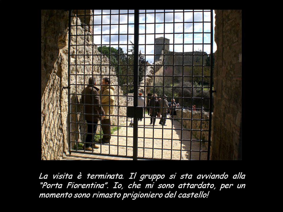 """Da questa posizione, si domina tutto il perimetro della cinta muraria. All'interno delle mura, il """"Vecchio borgo""""."""