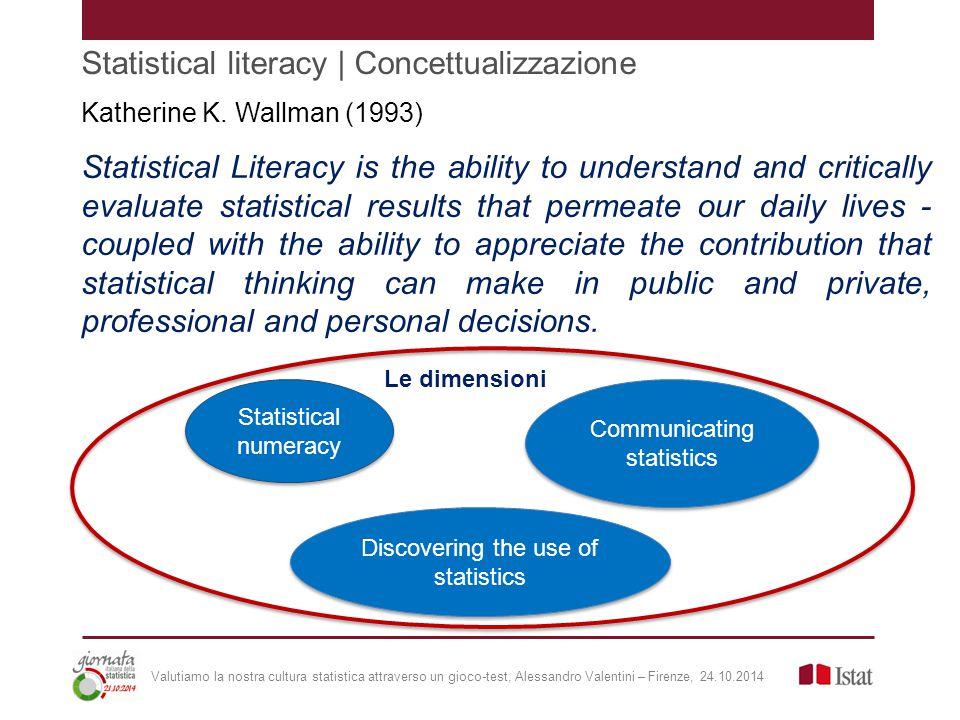 Statistical literacy | Concettualizzazione Katherine K.