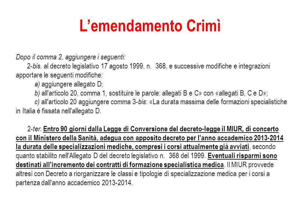L'emendamento Crimì Dopo il comma 2, aggiungere i seguenti: 2- bis.