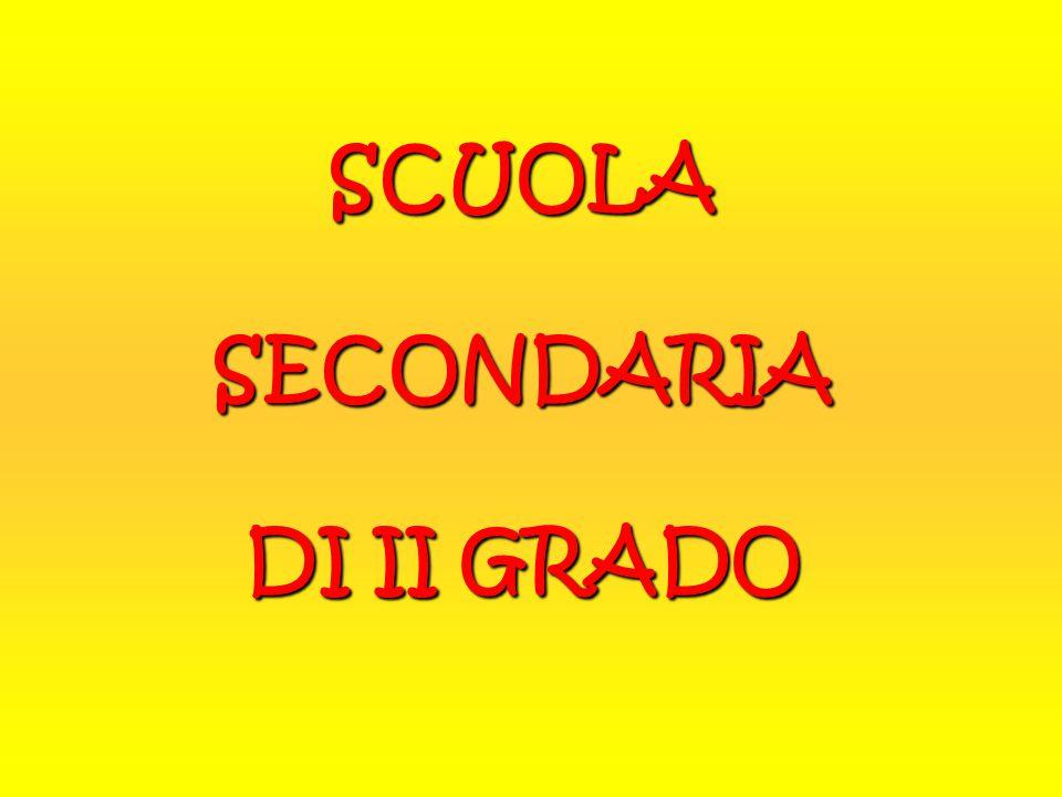 SCUOLASECONDARIA DI II GRADO