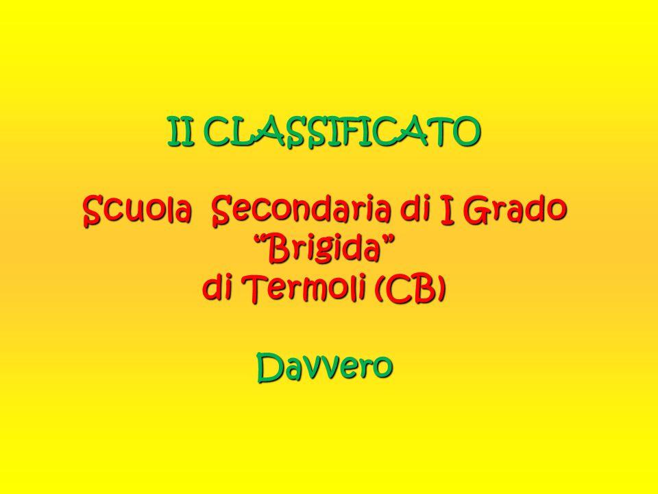 """II CLASSIFICATO Scuola Secondaria di I Grado """"Brigida"""" di Termoli (CB) Davvero"""