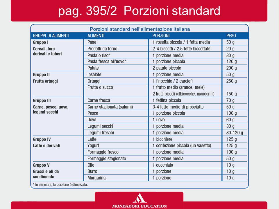 pag. 395/2 Porzioni standard