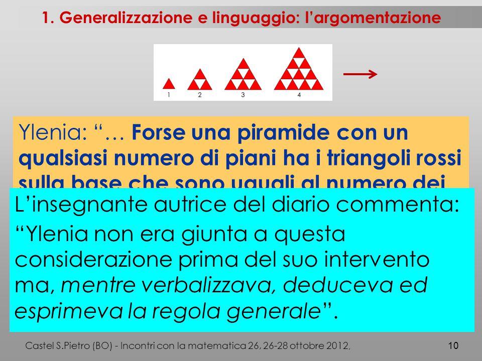 Castel S.Pietro (BO) - Incontri con la matematica 26, 26-28 ottobre 2012, 10 1.