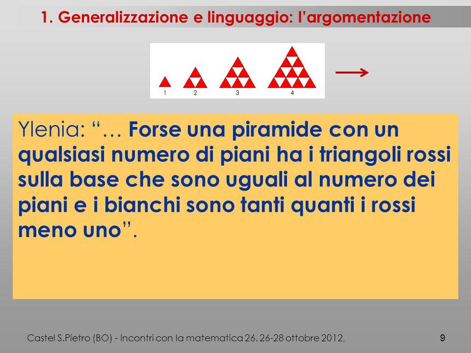 Castel S.Pietro (BO) - Incontri con la matematica 26, 26-28 ottobre 2012, 9 1.