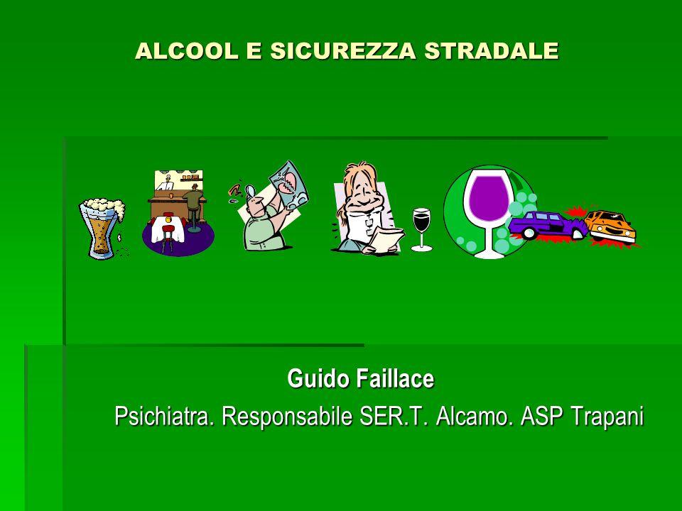 ALCOOL E SICUREZZA STRADALE Guido Faillace Psichiatra.