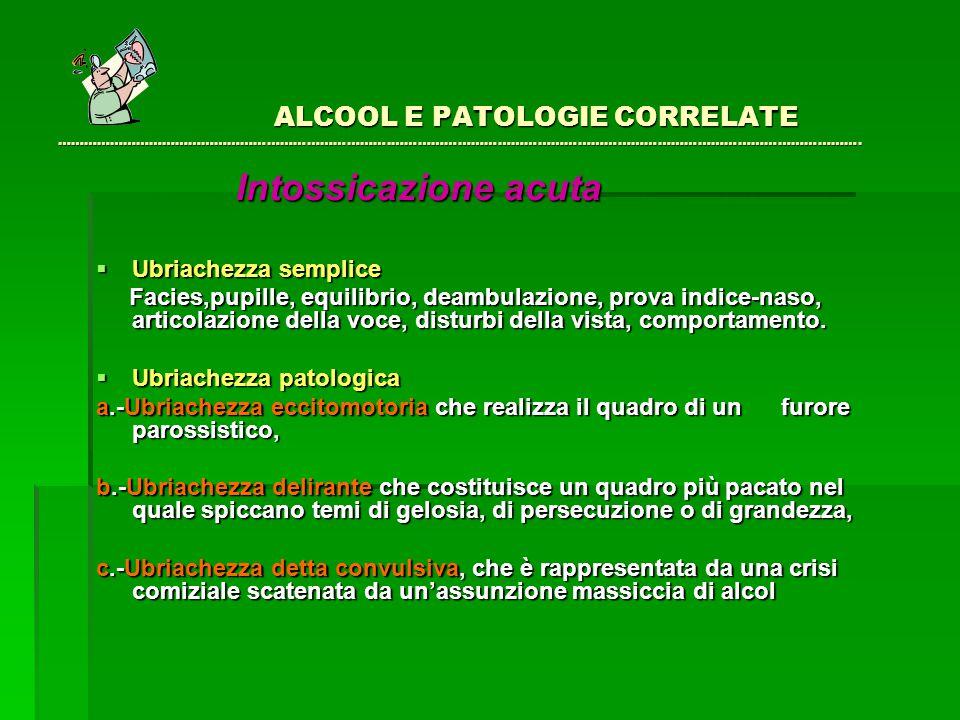 ALCOOL E PATOLOGIE CORRELATE ………………………………………………………………….…………………………………………………………………………………………….