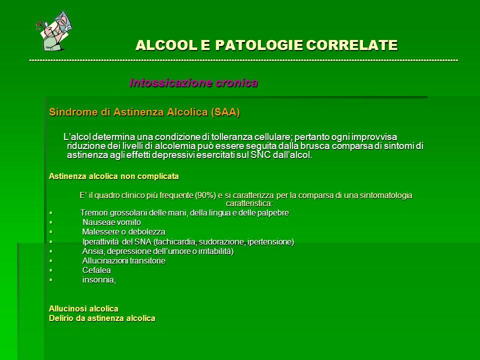 ALCOOL E PATOLOGIE CORRELATE …………………………………………………….……………………………………………………………………………………….