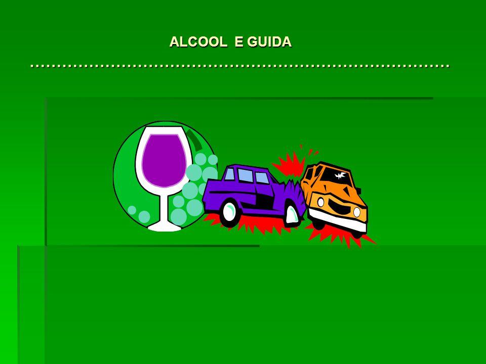 ALCOOL E GUIDA …………………………………………………………………… ALCOOL E GUIDA ……………………………………………………………………