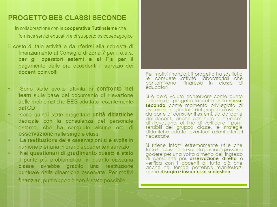 Classi seconde: progetto BES L'attività è stata una risorsa.