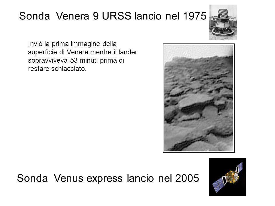 Inviò la prima immagine della superficie di Venere mentre il lander sopravviveva 53 minuti prima di restare schiacciato. Sonda Venera 9 URSS lancio ne