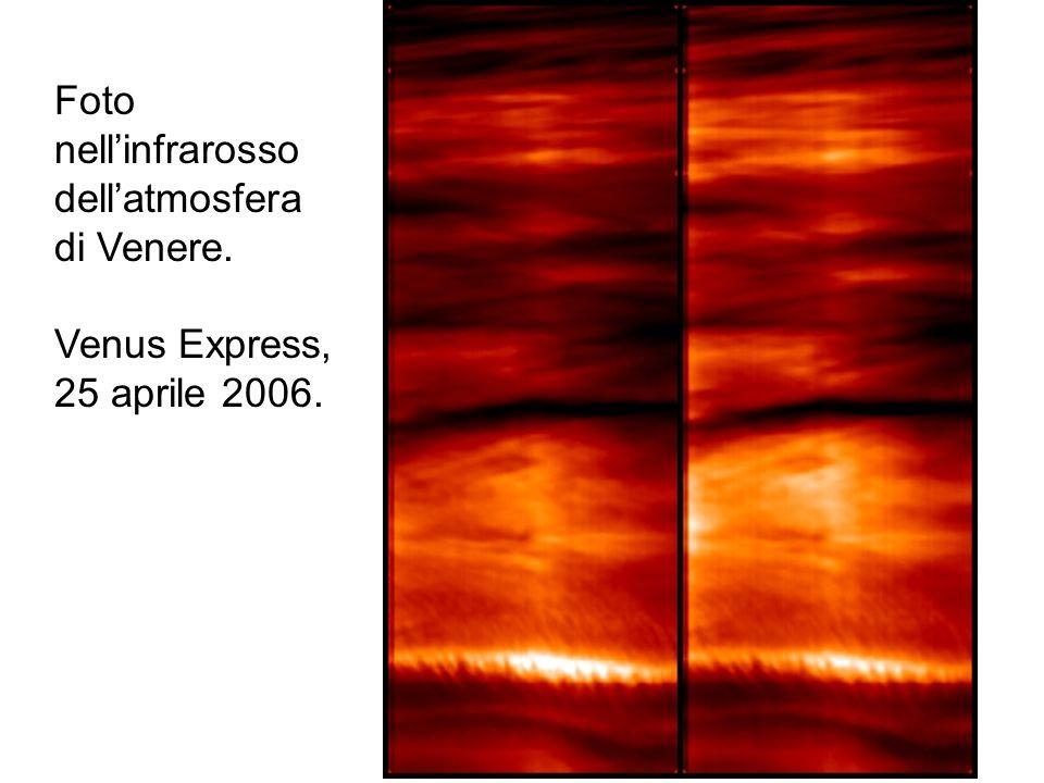Foto nell'infrarosso dell'atmosfera di Venere. Venus Express, 25 aprile 2006.