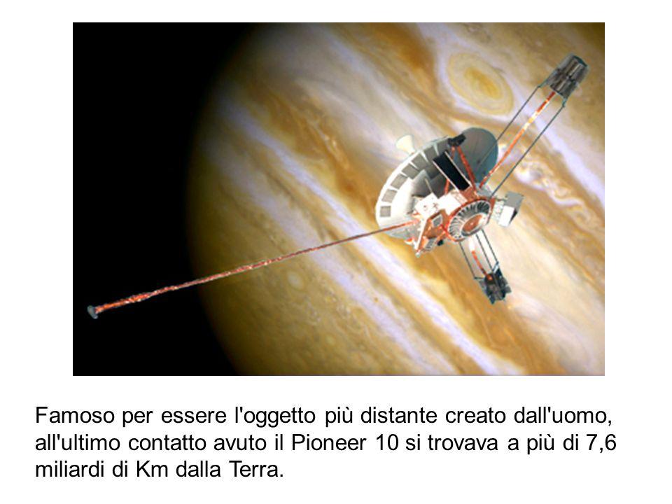 Famoso per essere l'oggetto più distante creato dall'uomo, all'ultimo contatto avuto il Pioneer 10 si trovava a più di 7,6 miliardi di Km dalla Terra.