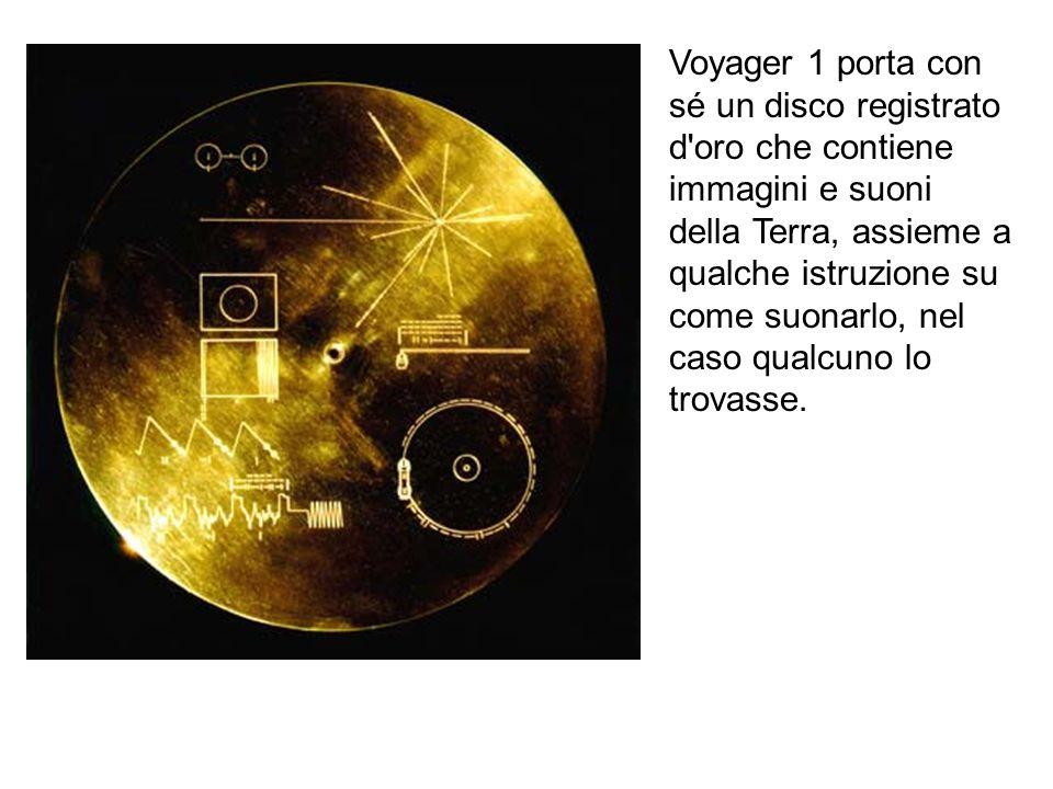 Voyager 1 porta con sé un disco registrato d'oro che contiene immagini e suoni della Terra, assieme a qualche istruzione su come suonarlo, nel caso qu