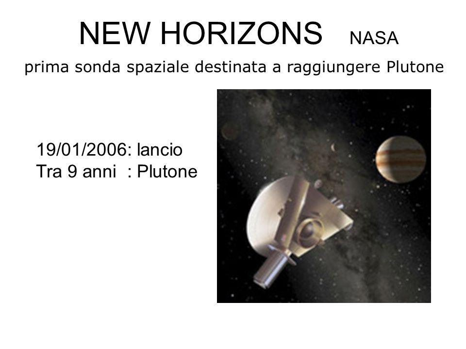 19/01/2006: lancio Tra 9 anni : Plutone NEW HORIZONS NASA prima sonda spaziale destinata a raggiungere Plutone