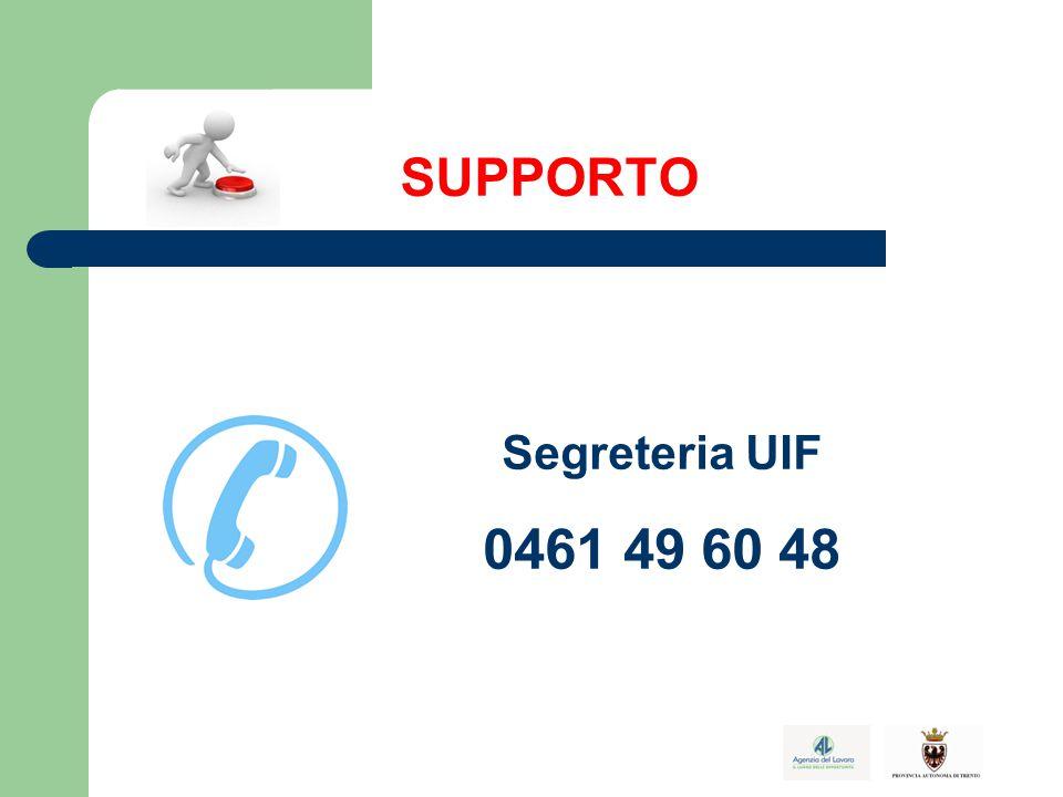 SUPPORTO Segreteria UIF 0461 49 60 48