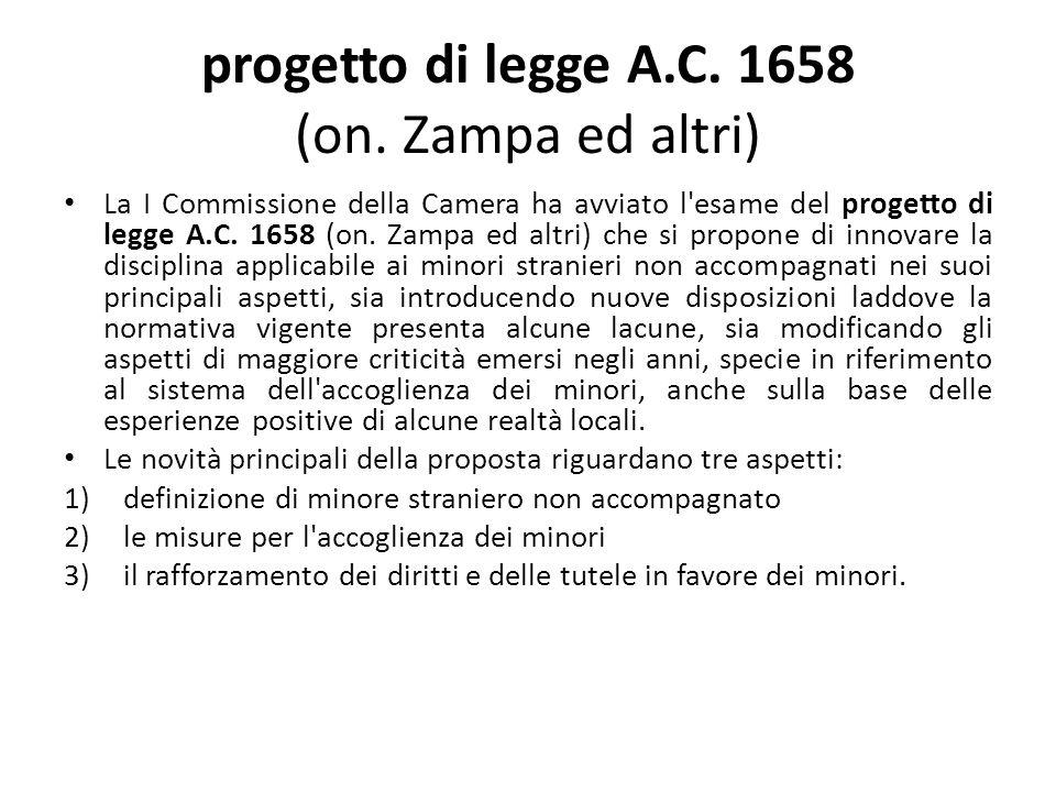progetto di legge A.C. 1658 (on.