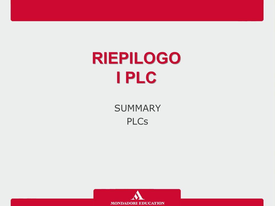 SUMMARY PLCs RIEPILOGO I PLC RIEPILOGO I PLC