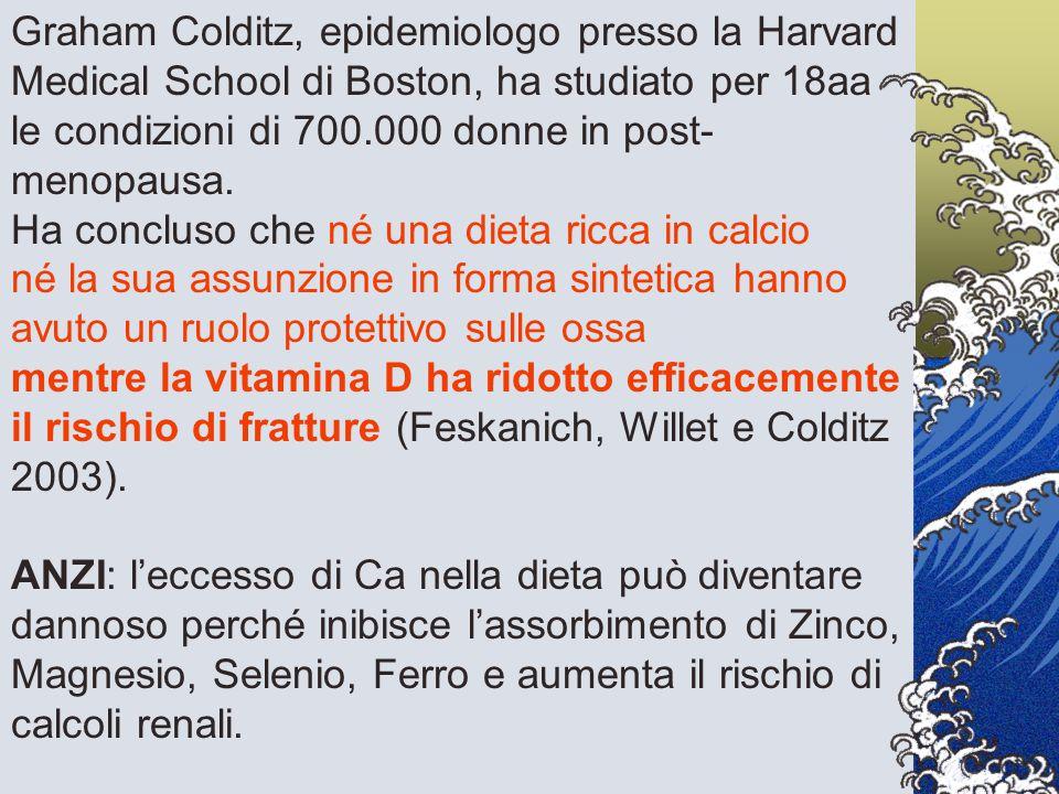 Graham Colditz, epidemiologo presso la Harvard Medical School di Boston, ha studiato per 18aa le condizioni di 700.000 donne in post- menopausa. Ha co
