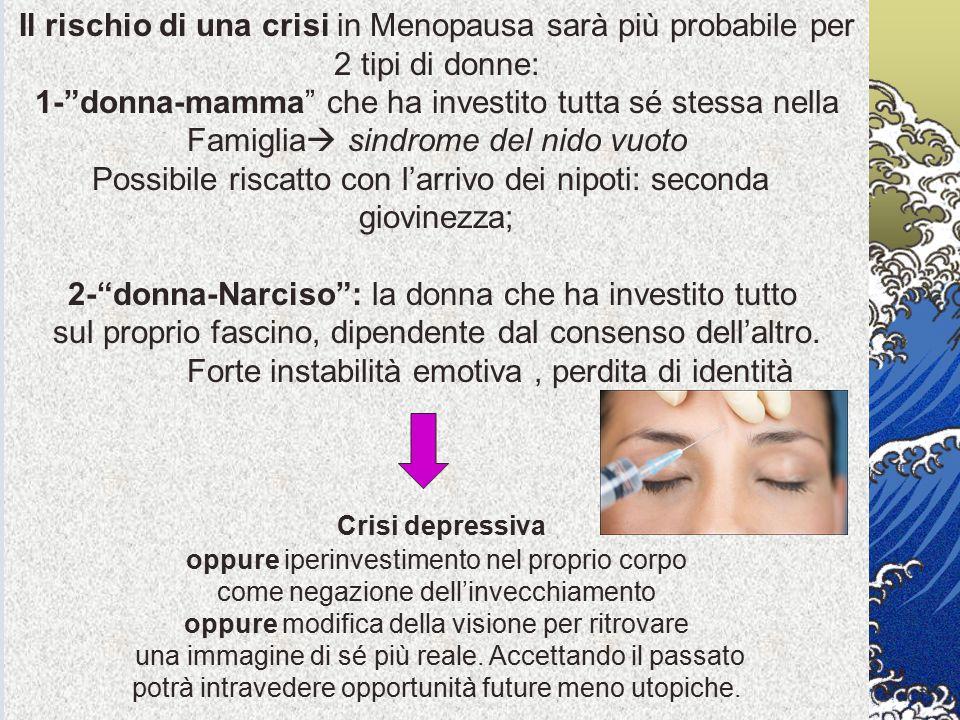 """Il rischio di una crisi in Menopausa sarà più probabile per 2 tipi di donne: 1-""""donna-mamma"""" che ha investito tutta sé stessa nella Famiglia  sindrom"""