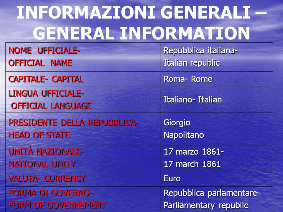 VALUTA-CURRENCY La valuta italiana è l'euro, vigente dal 2002.