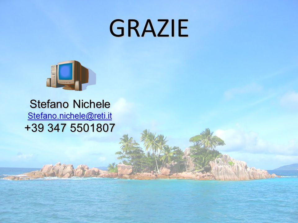 GRAZIE Stefano Nichele Stefano.nichele@reti.it +39 347 5501807