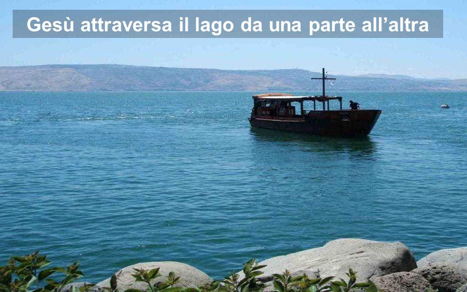 Attraverso degli avvenimenti attorno al lago, Marco rivela che Gesù è VITA Lago di Galilea 1-Passano all'altra riva 3- Miracolo a Gerassa 2-Tempesta 4