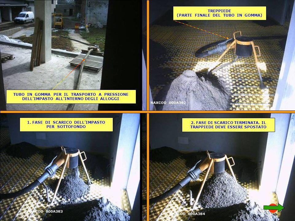 TUBO IN GOMMA PER IL TRASPORTO A PRESSIONE DELL'IMPASTO ALL'INTERNO DEGLI ALLOGGI TREPPIEDE (PARTE FINALE DEL TUBO IN GOMMA) 1.