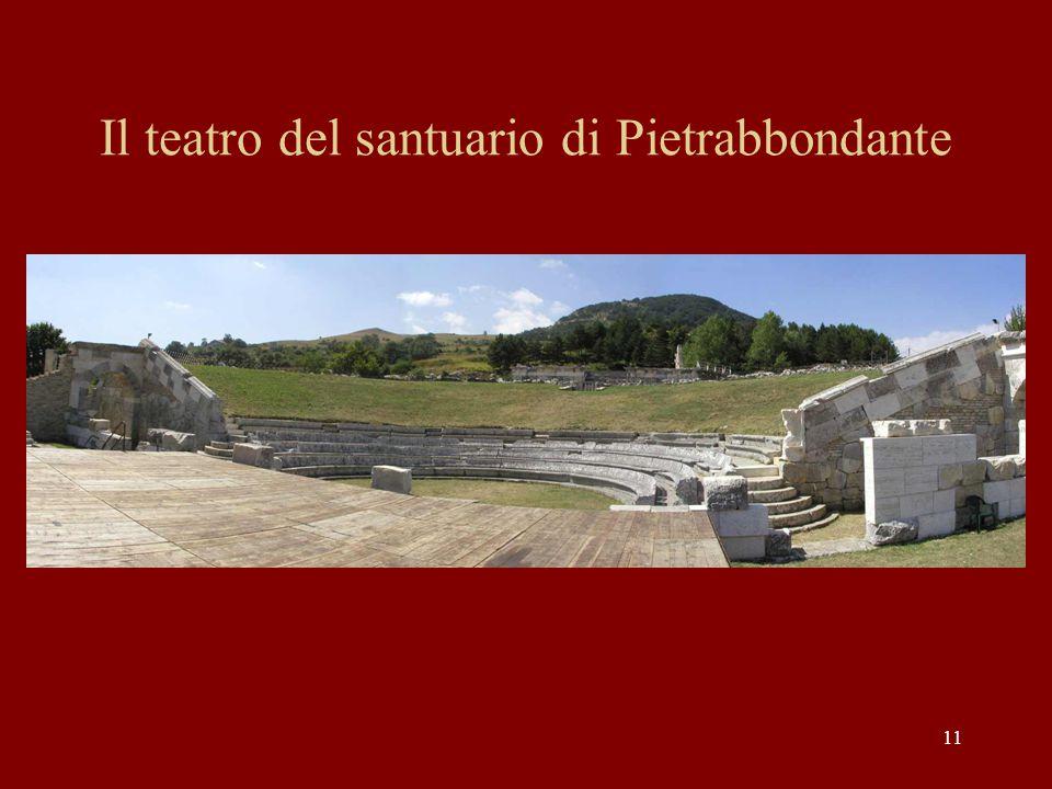 11 Il teatro del santuario di Pietrabbondante
