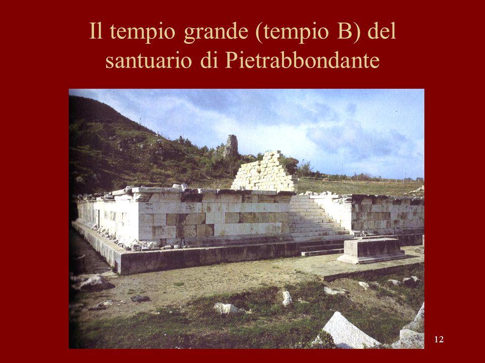 12 Il tempio grande (tempio B) del santuario di Pietrabbondante