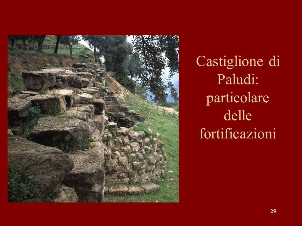29 Castiglione di Paludi: particolare delle fortificazioni
