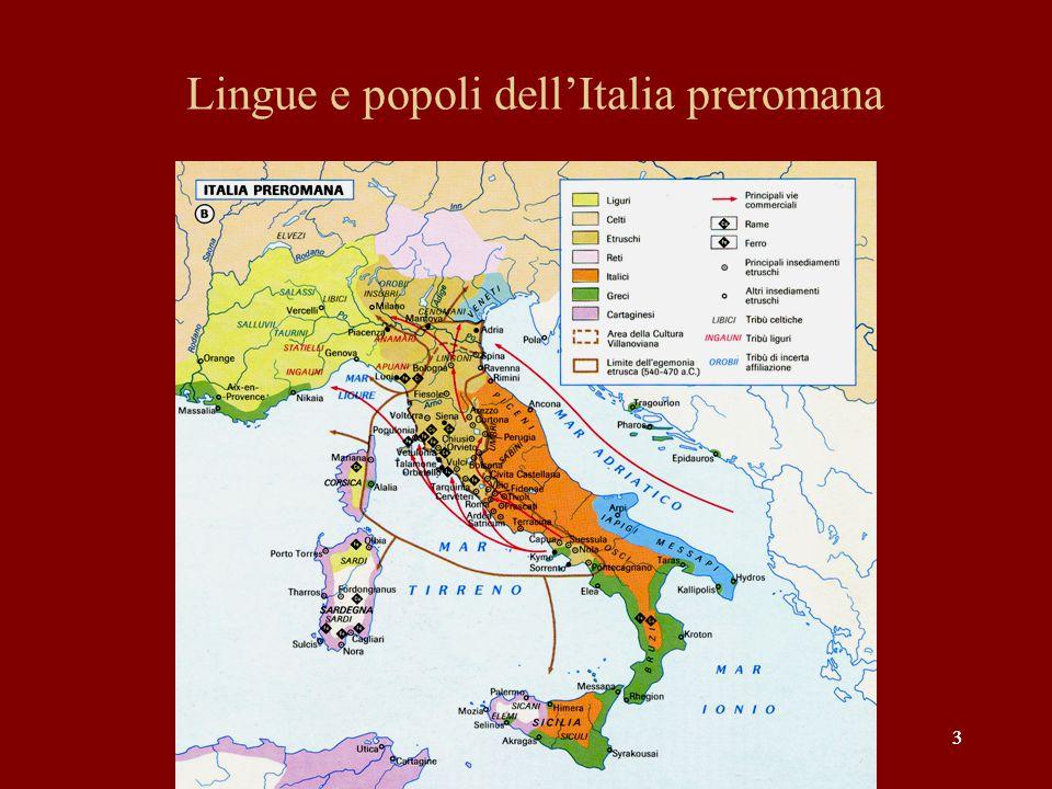 33 Lingue e popoli dell'Italia preromana