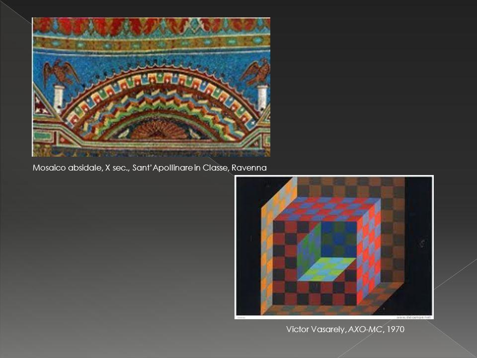 Mosaico absidale, X sec., Sant'Apollinare in Classe, Ravenna Victor Vasarely, AXO-MC, 1970
