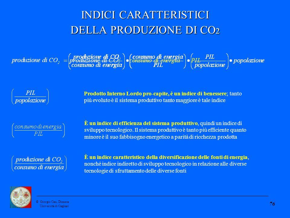 ©Giorgio Cau, Dimeca Università di Cagliari 76 È un indice di efficienza del sistema produttivo, quindi un indice di sviluppo tecnologico.