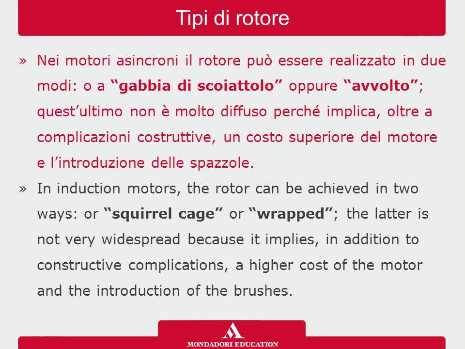 """»Nei motori asincroni il rotore può essere realizzato in due modi: o a """"gabbia di scoiattolo"""" oppure """"avvolto""""; quest'ultimo non è molto diffuso perch"""