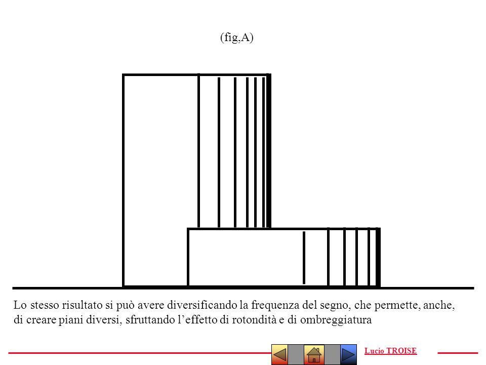 Lucio TROISE (fig,A) Lo stesso risultato si può avere diversificando la frequenza del segno, che permette, anche, di creare piani diversi, sfruttando