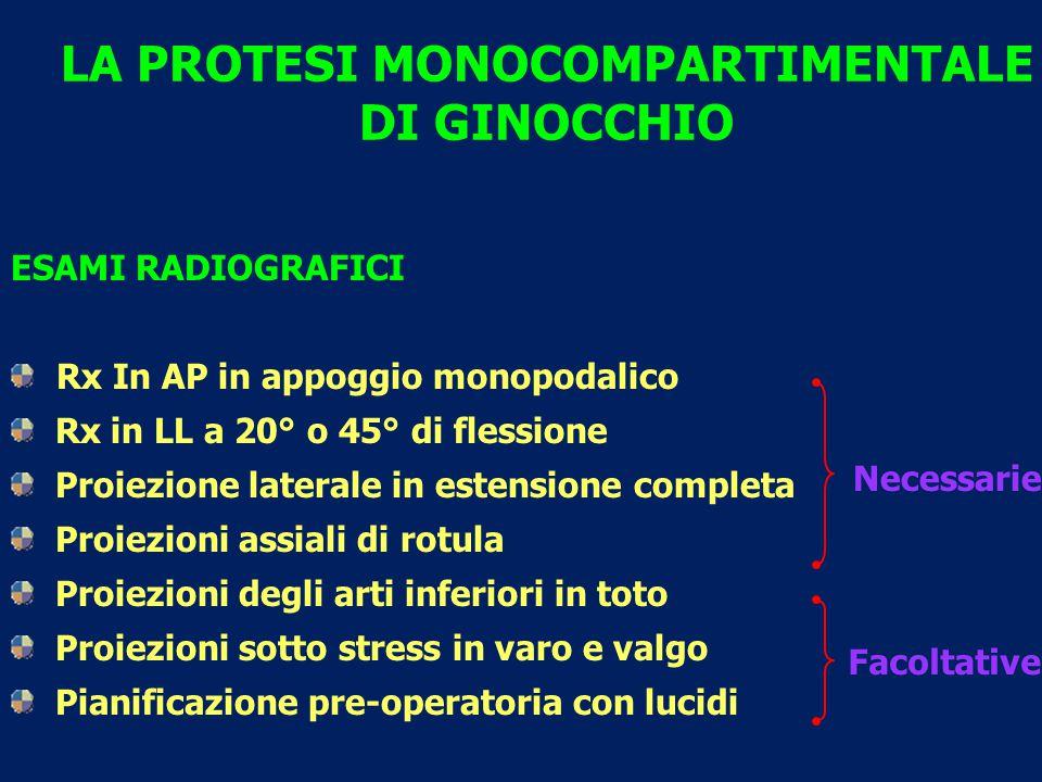 Mediale LA PROTESI MONOCOMPARTIMENTALE DI GINOCCHIO