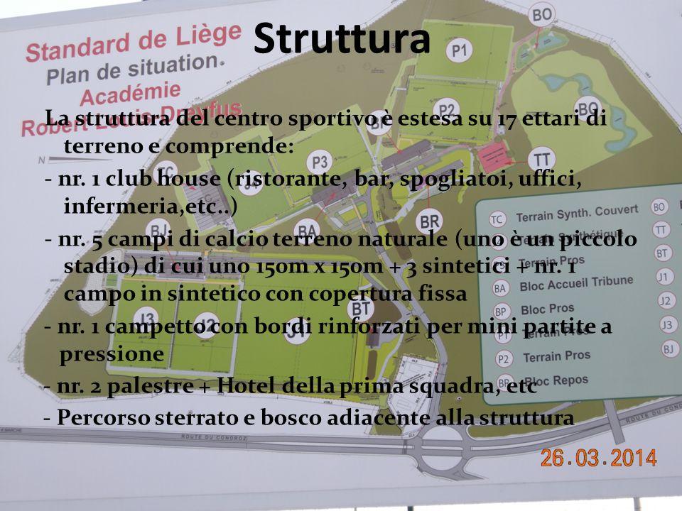 Struttura La struttura del centro sportivo è estesa su 17 ettari di terreno e comprende: - nr.