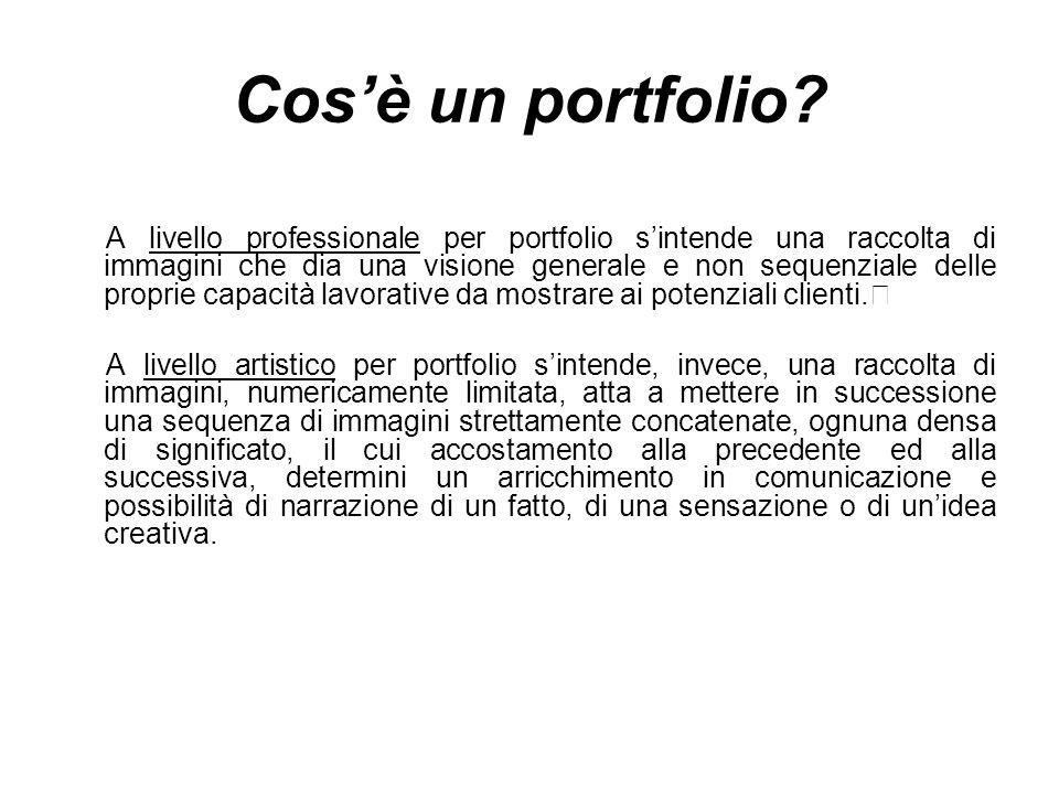 Il tempo dello scatto e il tempo della realizzazione del portfolio sono assai diversi.