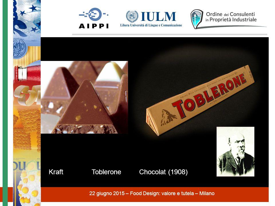 22 giugno 2015 – Food Design: valore e tutela – Milano Kraft Toblerone Chocolat (1908)